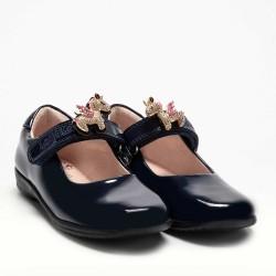 Lelli Kelly Bliss 2 Unicorn Girls Black Patent School Shoe F Width