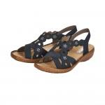 Rieker 6086514 Womens Navy Sandal