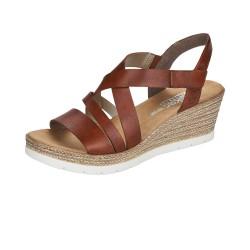 Rieker 6193724 Womens Brown Wedge Sandal