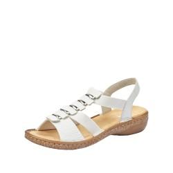 Rieker 6285080 Womens White Sandal