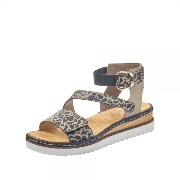Rieker 6795826 Womens Brown Combi Sandal