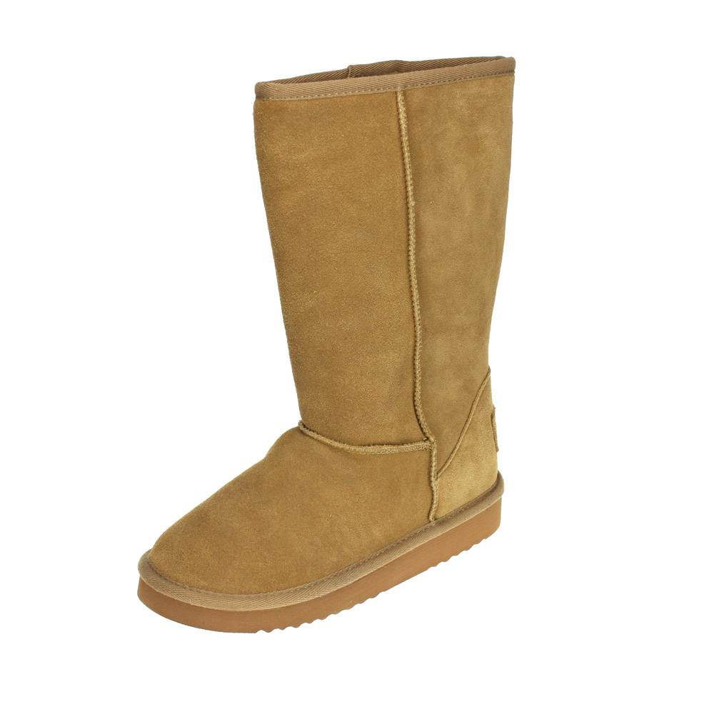dude dolomity toast womens suede faux fur lined