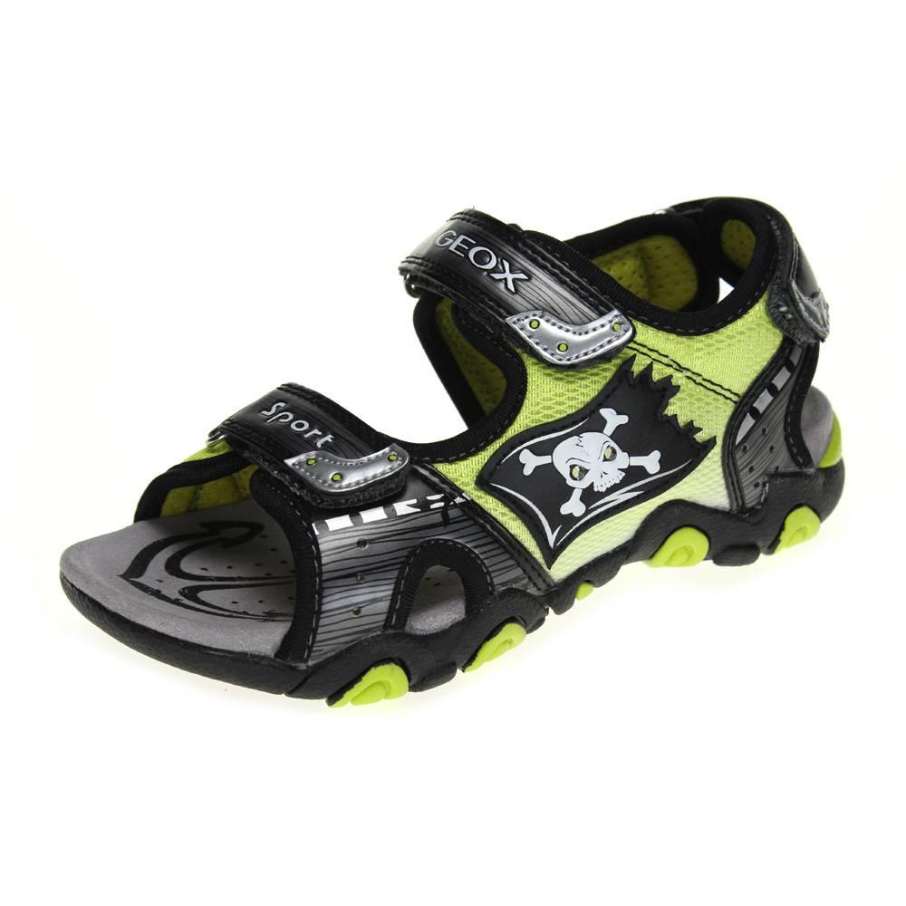 geox strike boys grey lime pirate sandal ebay. Black Bedroom Furniture Sets. Home Design Ideas