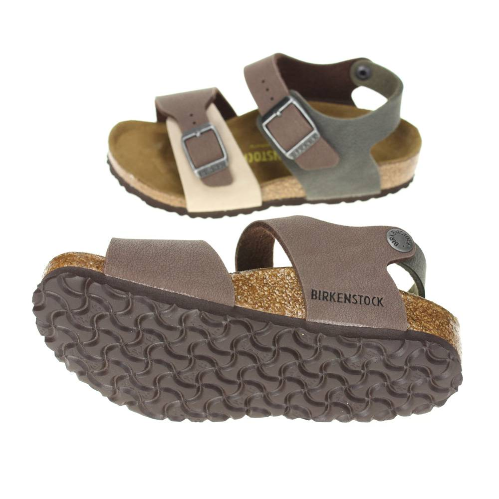 birkenstock new york kinder boys brown combi sandal ebay. Black Bedroom Furniture Sets. Home Design Ideas