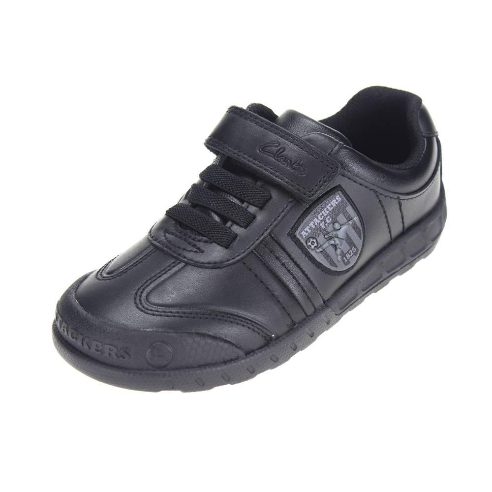 Clarks leaderplay INF Niños Negro Zapatos De Escuela