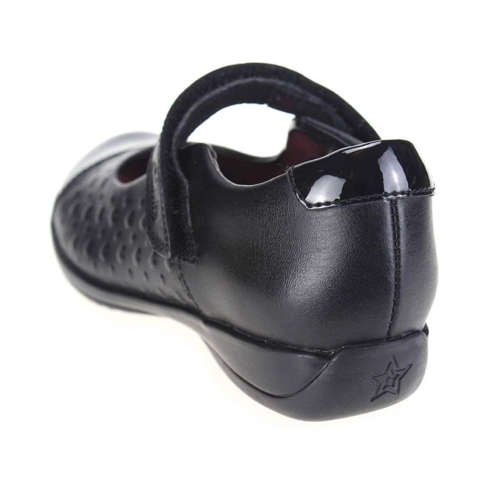 7ca2c5d8755 Clarks friendplay INF Niñas Negro Escuela Zapatos -txstyle.es