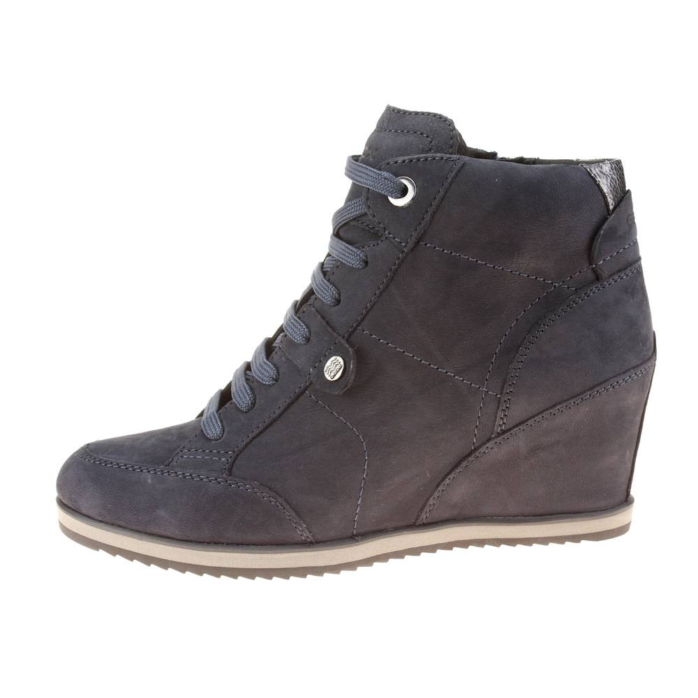hot sale online good quality affordable price Geox Illusion Womens Dark Navy Wedge Boot UK 7.5 / EU 41 | eBay