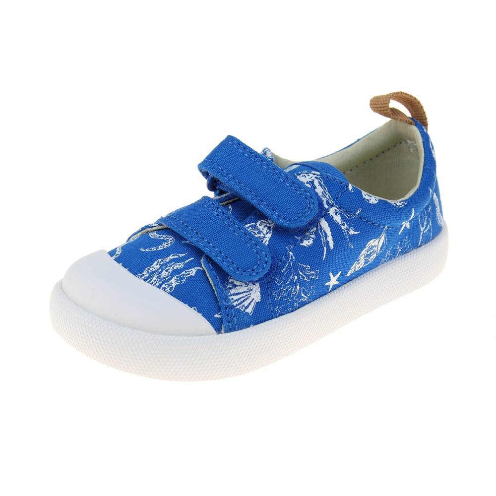 9b146f948d7f Clarks Halcy High Fst Boys Blue Canvas Shoe