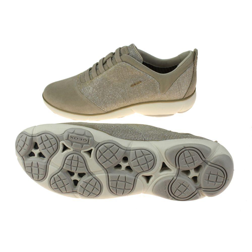 5b66d2a120f73 Geox Nebula Womens Lead-Light Taupe Shoe   eBay