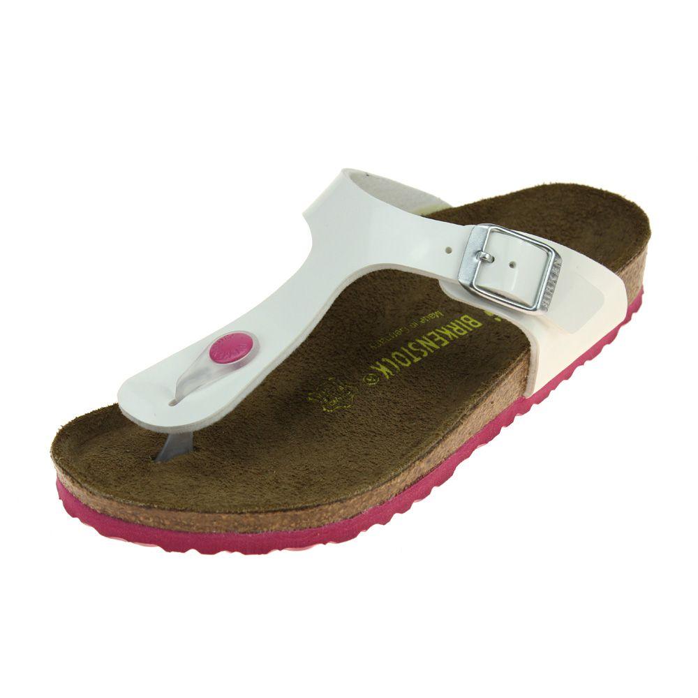 0bb2a1f85a91 Birkenstock Gizeh Kinder Girls White-Pink Sandal