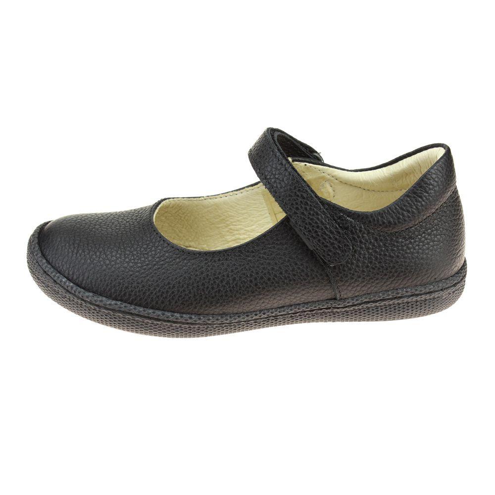 Primigi 44320 Girls Black School Shoe size eu kids hook loop leather padded