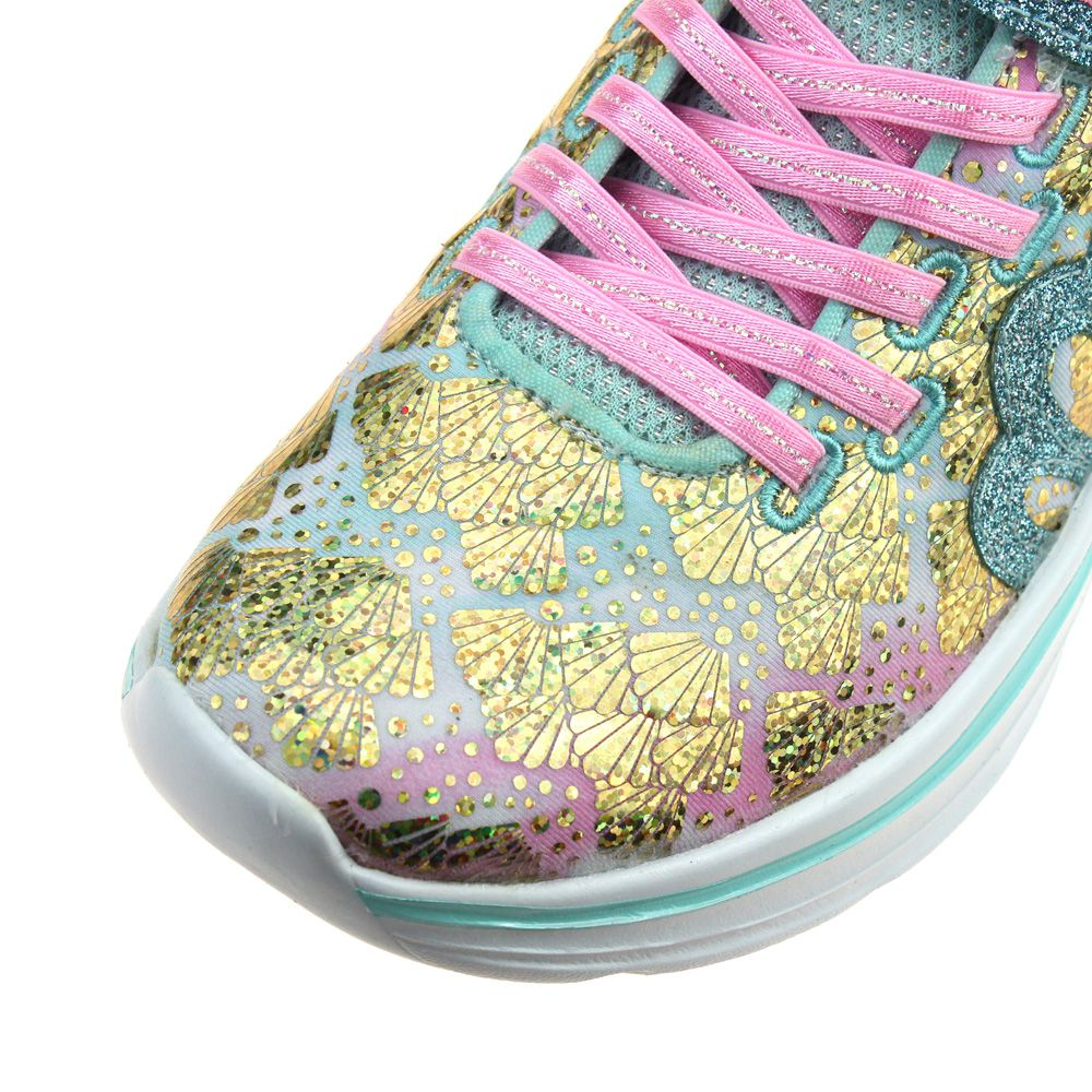 Skechers Double Dreams Mermaid Muse Girls Aqua Pink Trainer
