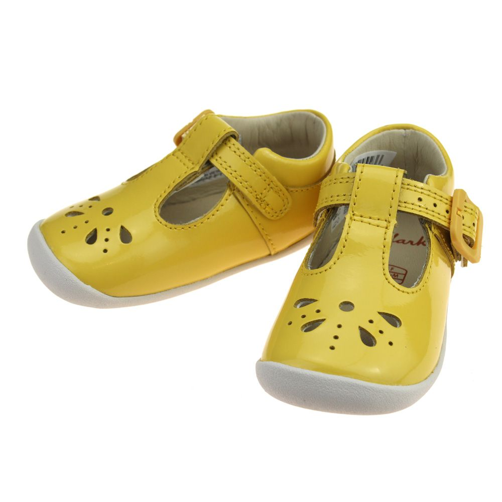 Clarks Roamer Star Infant Girls Yellow Shoe