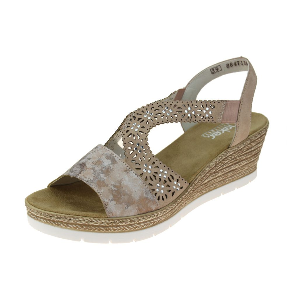 Détails sur Rieker 6191631 Chaussures femme ROSA ROSE sandale taille UE Femmes afficher le titre d'origine