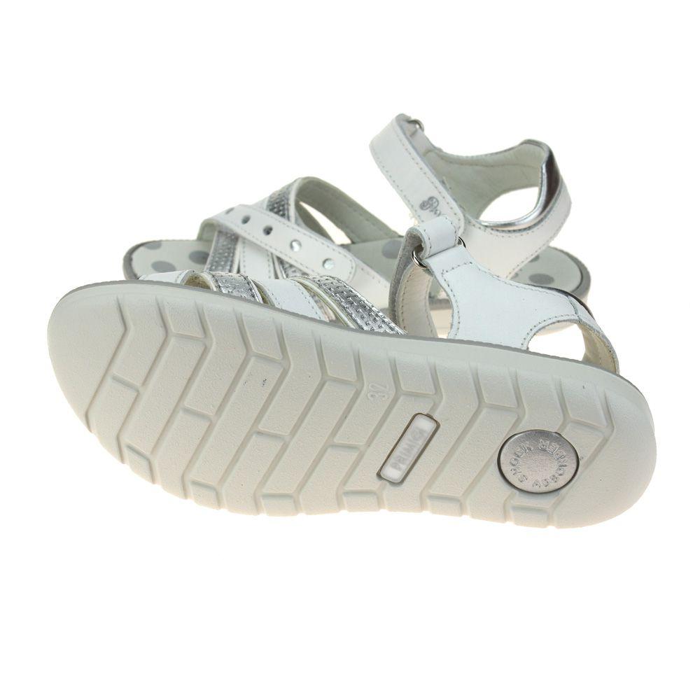 Primigi PAL 33900 Girls Bianco Argento White Silver Sandal size eu kids