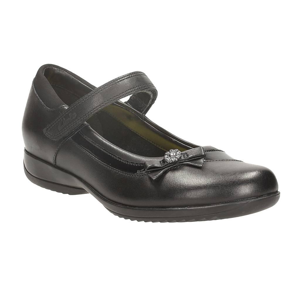 Clarks Daisy Beth Jnr Niñas Escuela Negra Zapato